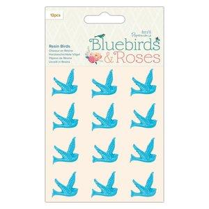 Pájaros de resina Docrafts Bluebirds & Roses