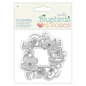 Sello acrílico Docrafts Bluebirds & Roses Frame
