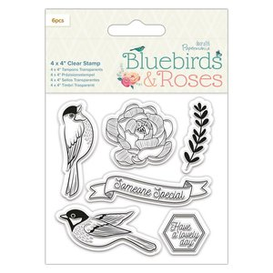 Sello acrílico Docrafts Bluebirds & Roses Birds