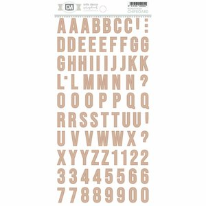 Alfabeto chipboard Artis Decor Rosa
