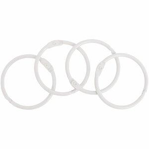 Set 4 anillas para encuadernación 35 mm Blanca