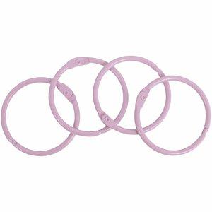 Set 4 anillas para encuadernación 35 mm Rosa Claro