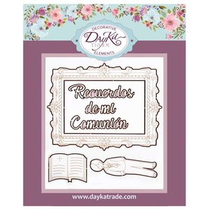 Dayka Set Niño Comunión Biblia de chipboard