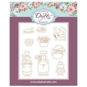 Dayka figuras de chipboard Cocinera Cocinero