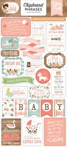 """Chipboard 6""""x12"""" Baby Girl Frases"""