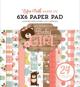 "Pad 6""x6"" Baby Girl"