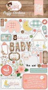 Pegatinas puffy Baby Girl