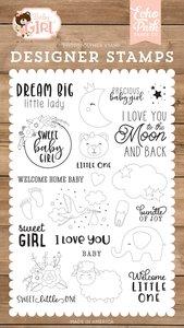 Set de sellos de fotopolímero Dream Big Little Lady
