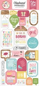 """Chipboard 6""""x12"""" All Girl Frases"""