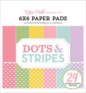 """Dots and Stripes Spring Pad 6""""x6"""""""