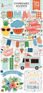 Chipboard iconos Echo Park Summertime