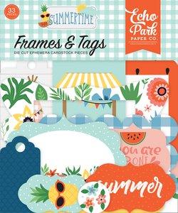 Die Cuts Frames & Tags Echo Park Summertime