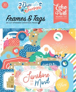Die Cuts Frames & Tags Echo Park Dive into Summer