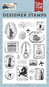 Sellos Echo Park Scenic Route Travel Stamps