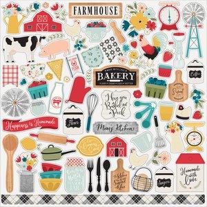 """Pegatinas 12x12"""" Echo Park Farmhouse Kitchen"""