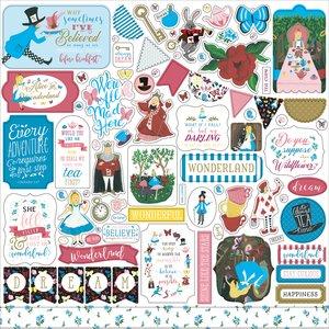 "Pegatinas 12x12"" Echo Park Alice in Wonderland v2"
