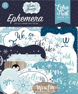 Die Cuts Echo Park Winter Magic