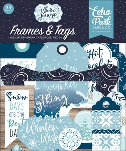 Die Cuts Frames & Tags Echo Park Winter Magic
