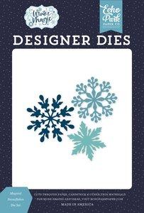 Troqueles Echo Park Winter Magic Magical Snowflakes