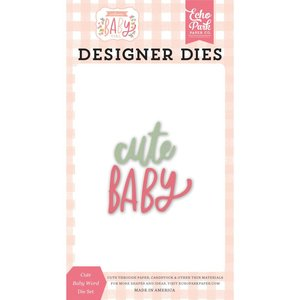 Troqueles Echo Park Welcome Baby Girl Cute Baby