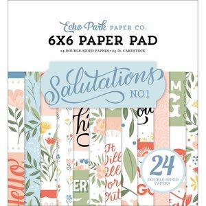 """Pad 6x6"""" Echo Park Salutations No 1"""