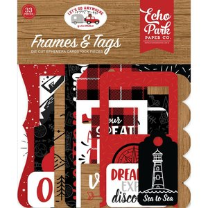 Die Cuts Echo Park Let's Go Anywhere Frames & Tags