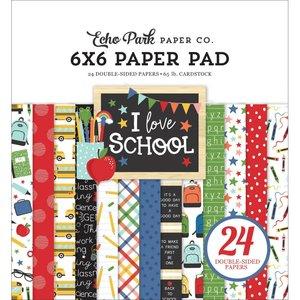 "Pad 6x6"" Echo Park I Love School"