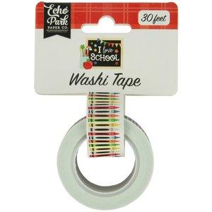 Washi Tape Echo Park I Love School Crayons