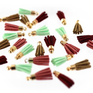 Mini tassels de falsa piel Florileges Gypsy Forest