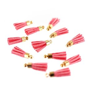 Mini tassels de falsa piel Florileges Rosa Thé