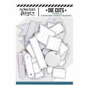 Die Cuts etiquetas Florilèges Gris Doux