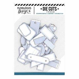 Die Cuts etiquetas Florilèges Bleu Acier