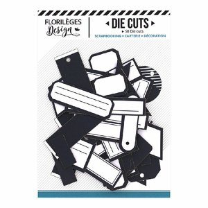 Die Cuts etiquetas Florilèges Bleu Nuit