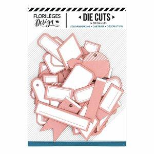 Die Cuts etiquetas Florilèges Rose Corail