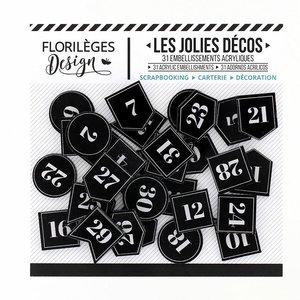 Adornos de metacrilato Florilèges Etiquettes Numerotees