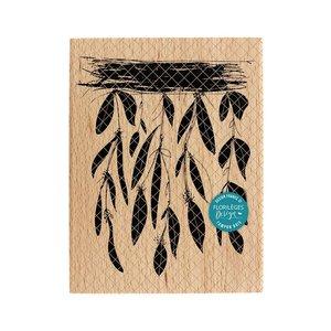 Sello de madera Florileges FEUILLAGES SUSPENDUS