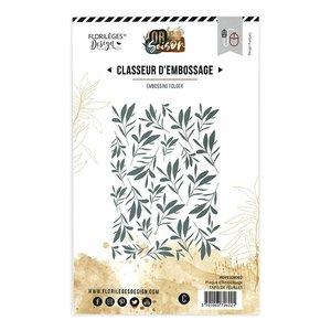 Carpeta de embossing Florileges Or Saison TAPIS DE FEUILLES
