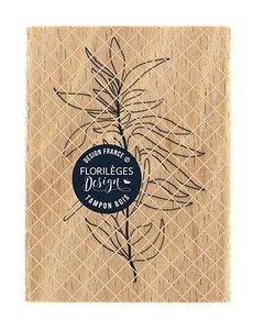 Sello de madera Florileges Or Saison FEUILLAGE SOUPLE