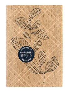 Sello de madera Florileges Or Saison FEUILLAGE COURBE