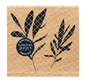 Sello de madera Florileges Or Saison FEUILLAGES GRACIEUX