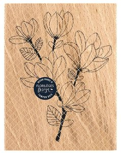 Sello de madera Florileges Or Saison BRANCHE DE MAGNOLIA