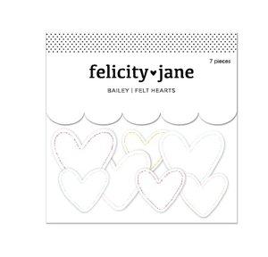 Corazones de fieltro Felicity Jane Bailey