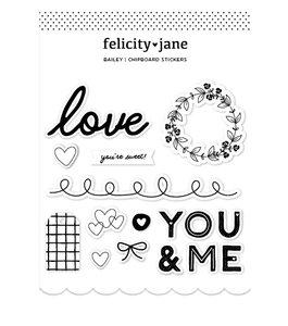 Pegatinas chipboard Felicity Jane Bailey