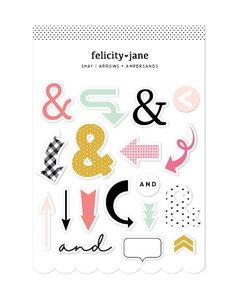 Pegatinas foam y cartulina Felicity Jane Shay