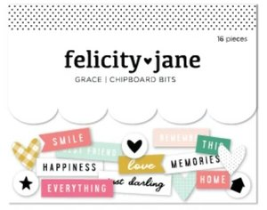Chipboard bits Grace de Felicity Jane
