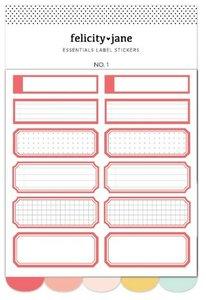 Set de pegatinas Labels Essentials de Felicity Jane