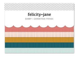 Bordes de cartulina con flecos Gabby de Felicity Jane