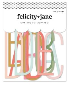 Die Cuts Alphabet & Numbers Tori de Felicity Jane