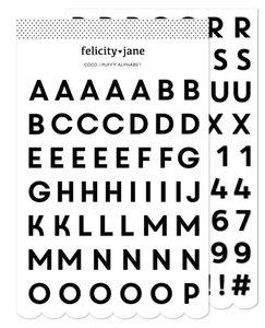 Alfabeto puffy Coco de Felicity Jane