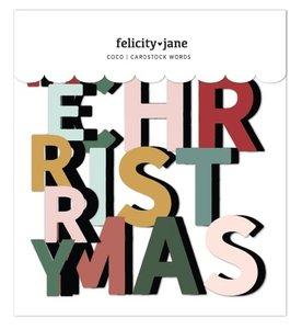 Troquelados títulos Merry Christmas Coco de Felicity Jane